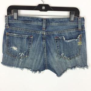 Miss Me Jean Shorts Women's Size 28 Cutoff Distres